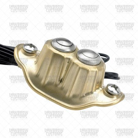 Deluxe Dual Micro Switch Satin Brass Custom Motorcycle Parts Black And Brass Brass