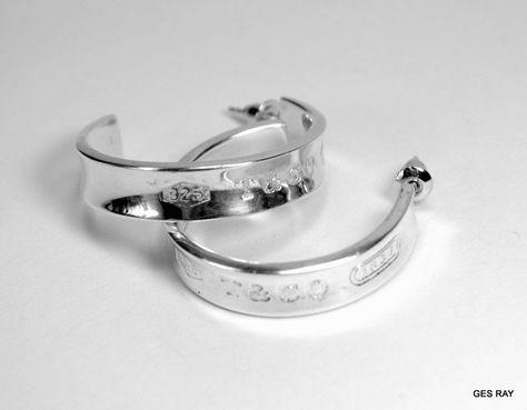 Tiffany Co 925 Sterling Silver Large Hoop Earrings 1997 1837 Large Hoop Earrings Silver 925 Sterling Silver