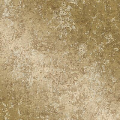 House Of Hampton Dee Distressed 16 5 L X 20 5 W Smooth Peel And Stick Wallpaper Roll Color Gold Leaf Wallpaper Removable Wallpaper Gold Wallpaper