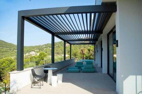 Louvered Pergola   Aluminium Bioclimatic Pergola - Retractable Roof