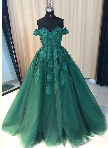Vestiti Cerimonia Verde Smeraldo.Abiti Da Ballo Da Sera Personalizzati Lunghi In Pizzo Verde