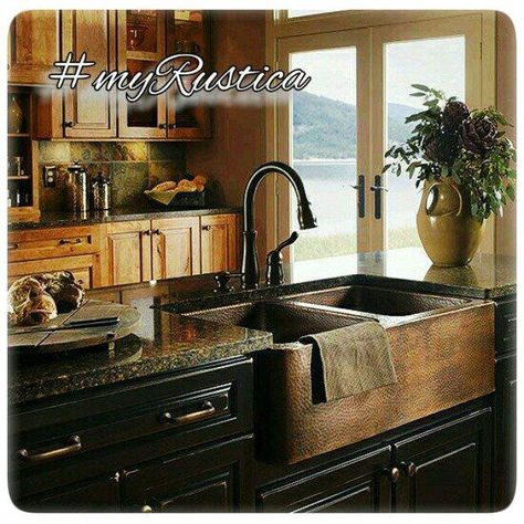Rustic antique kitchen idea.