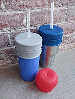 Amazon Com O Sip Silicone Straw Lids Xl Size Pack Of 3