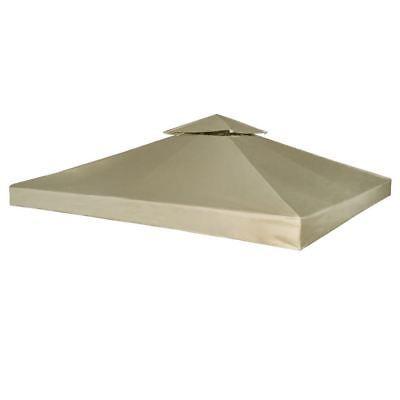 Vidaxl Gazebo Canopy Top 10 X10 Beige Replacement Cover 2 Tier Outdoor Patio Replacement Canopy Patio Canopy Gazebo Replacement Canopy