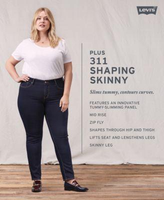 32b6bcc2b62 Levi s Plus Size 311 Shaping Skinny Jeans - Black 24W