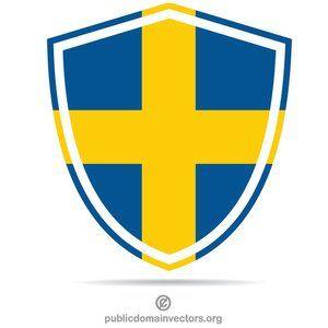 Publicdomainvectors Org Shield With Swedish Flag In 2020 Swedish Flag Flag Flag Vector