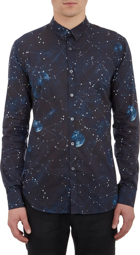 Make heads turn with this Paul Smith Cosmos Print Shirt in Navy. More Fashion Trends @ rickysturn/mens-fashion