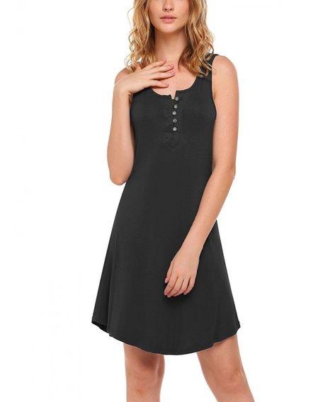 23f09f255d5 Women s Sleeveless Nightgown Scoop Neck Sleep Shirt Nightshirt Sleepwear  S-XXL - Black - CS185O3GZWX