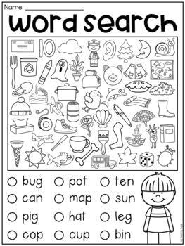 Homeschool Kindergarten, Kindergarten Reading, Preschool Learning, Teaching Reading, Fun Learning, Preschool Activities, Teaching Kids, Teaching Resources, Short Vowel Activities