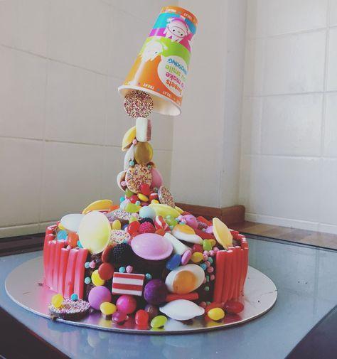 Anti Gravity Pick N Mix Birthday Cake Gravitycake With Images