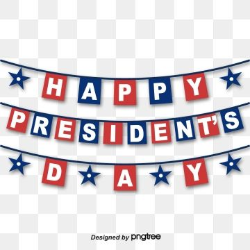 Happy Font For Presidents Day National Flag Typeface Coloured Flag Png And Vector With Transparent Background For Free Download