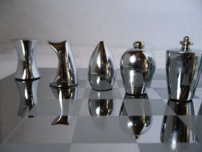 Steel Chess Set copper/steel contemporary chessmen | modern chess sets | pinterest