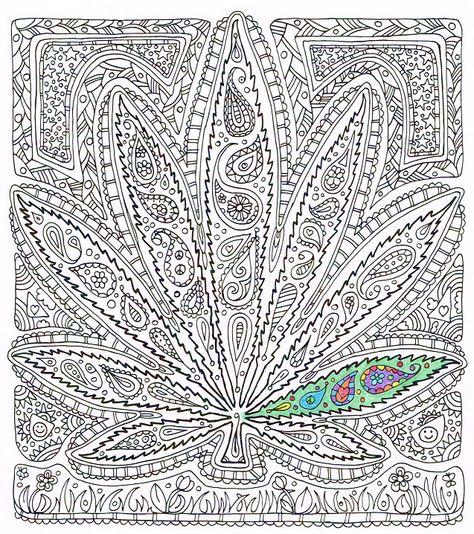 Adult Coloring Page Got Leaf Printable Pot Leaf By Candyhippie Leaf Coloring Page Free Adult Coloring Pages Coloring Book Pages