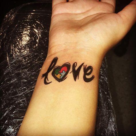 #lasvegasink #wristtattoos #wristtattoo #lovetattoo #autism #autismtattoo #loveautism