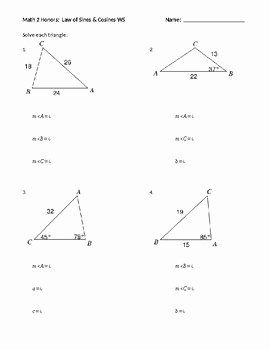 50 Law Of Sines Worksheet Answers In 2020 Law Of Sines