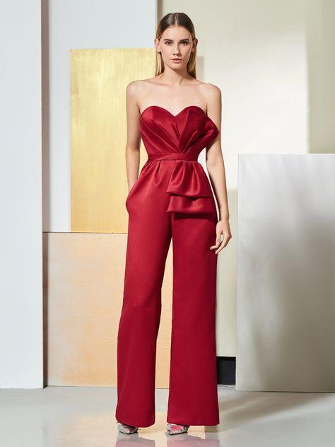 Bowknot Sweetheart Zipper-Up Long Evening Jumpsuit #dresswe reviews #dresswe beauty reviews #dresswe fashion reviews #evening jumpsuit #woman fashion #sweatheart