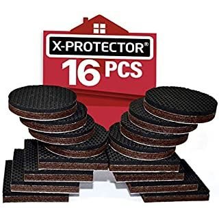 X Protector Non Slip Furniture Pads Premium 16 Pcs 2 Furniture Grippers Best Selfadhesive Rubber Feet Furn In 2020 Skid Furniture Furniture Pads Furniture Grippers