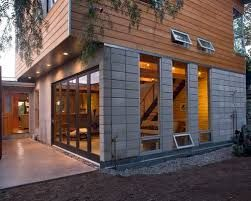 Image Result For Black Concrete Block House Nz Cinder Block House Concrete Block Walls Building Exterior