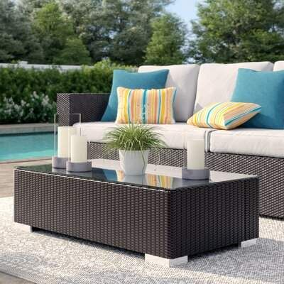 Sol 72 Outdoor Brentwood Glass Coffee Table Sol 72 Outdoor