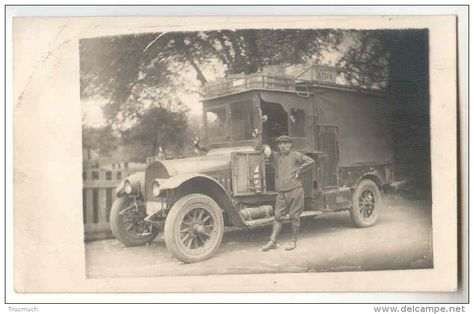 chicorée pacha | E2068 - Carte photo d'un camion de livraison et son chauffeur ...