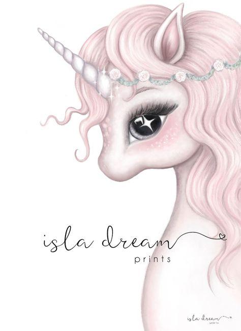 Rosa- Unicorn Print – Isla Dream Prints