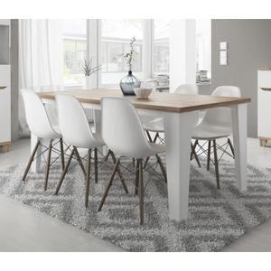 Table A Manger Scandinave Lier Blanc Et Bois En 2020 Table A