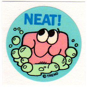 CTP77 Reward Label Vintage CTP 1977 Scratch 'N Sniff Sticker CHERRY