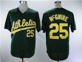 cheaper 350fd 7a213 Oakland Athletics #25 Mark McGwire Green Throwback Jersey ...