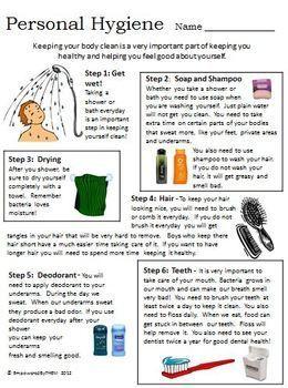 PERSONAL HYGIENE- worksheet