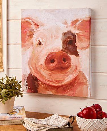 Slice Of Summer 2019 Lakeside Farm Animal Painting Farm Animal Paintings Animal Canvas Paintings