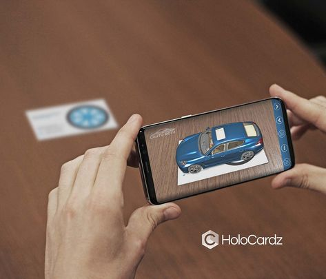 Augmented Reality Business Cards for a Car Dealership by HoloCardz