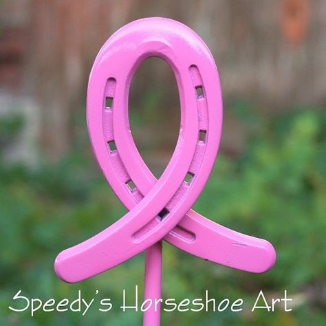 Dark Pink Breast Cancer Awareness Ribbon by SpeedysHorseshoeArt, $20.00