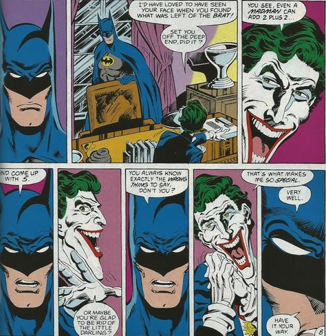 madlleine:  The one last chance conversation. Shortly after the Joker murdered Jason Todd.   Batman: A Death in the Family  Batman #429