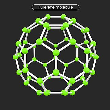 3d Hexagon Connection Fullerene Molecule With Green Ball 3d Hexagon Connection Png And Vector With Transparent Background For Free Download Hexagon Geometric Vector Vector Technology