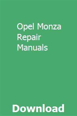 opel monza wiring diagram opel monza repair manuals opel meriva  repair manuals  opel  opel monza repair manuals opel meriva