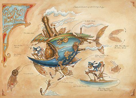 Steampunk Tendencies | Goofys-Pedal-Powered-Airship-mechanical-kingdoms