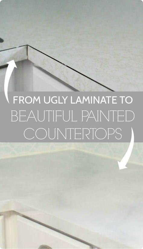 Painted countertops, painted marble counters with step by step tutorial