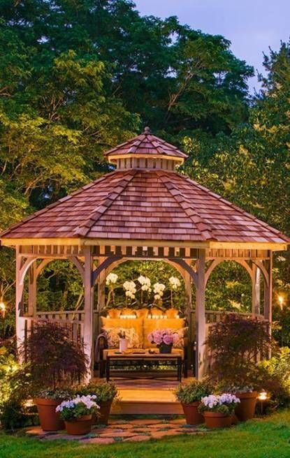 70 Ideas Backyard Gazebo Decorations Lighting Outdoor Spaces For