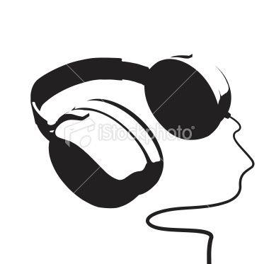 Dessin Casque Audio vector illustration | silhoutte | pinterest | casque audio