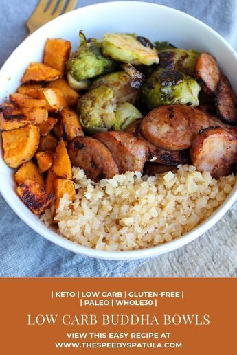 Low Carb Buddha Bowls are a great Keto Buddha Bowl meal that is also gluten-free, Paleo Buddha Bowls, and Whole30 Buddha Bowls.