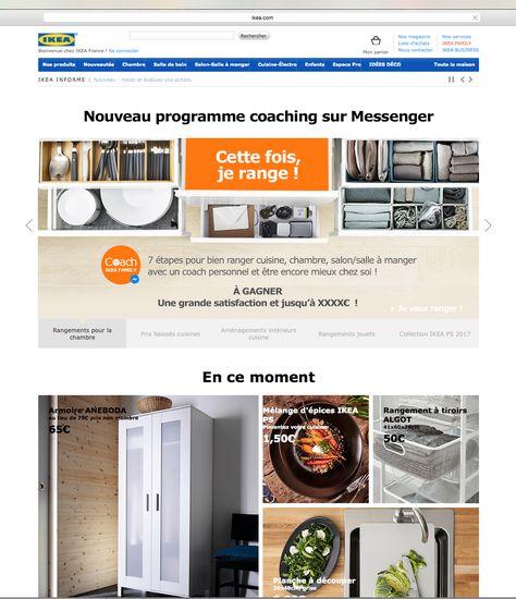 lancement Facebook Bot IKEA FAMILY coach rangement BOT IKEA FAMILY - rangement salle a manger