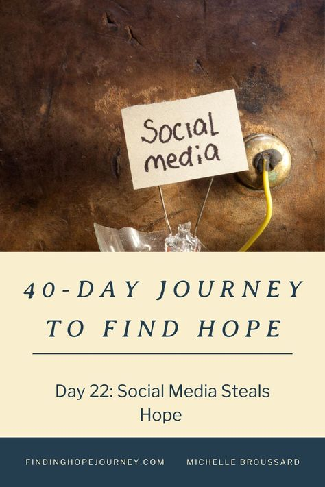 Social media and news sources steal our hope, joy, and peace. Join our 40-Day Journey to Find Hope to reclaim HOPE for your life! #findinghope #hope #peace #fear #anxiety #overcomer #christianencouragement #hopequotes