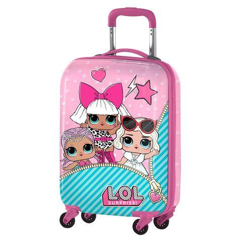 Lol Surprise Abs Trolley Suitcase 4 Wheels 55cm Doll Suitcase