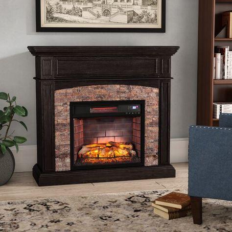 Contreras Ebony Electric Fireplace Belfry Heating In 2020