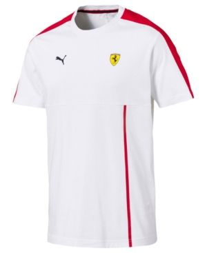 Puma Men S Ferrari T Shirt White Xl Shirts Sports Tshirt Designs Mens Outfits