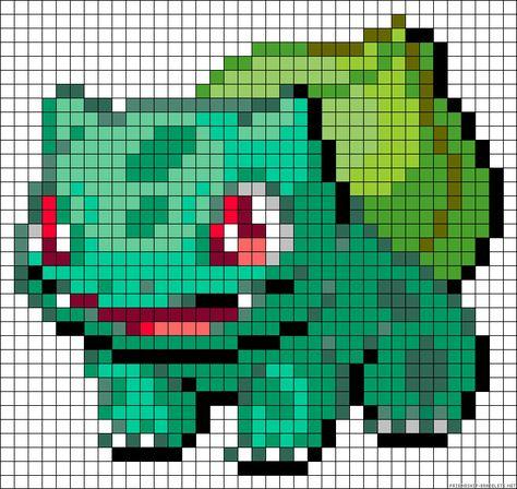10 Pokemon Pixel Art Templates