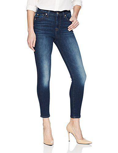 3f33a385dc843f 7 For All Mankind Women's The High Waist Ankle Skinny Jean | Women ...