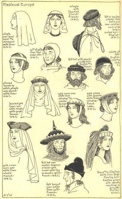 Coiffe Medieval 12e Siecle Costume Medieval Costume Historique La Mode Medievale