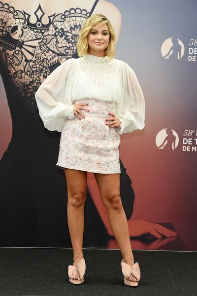 Olivia Holt from the series 'Cloak and Dagger' attends a photocall during the 58th Monte Carlo TV Festival.