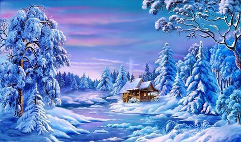 Похожее изображение | Пейзажи, Рождественское ...